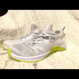 Nike Metcon Flyknit 3- White and Volt